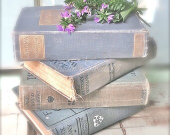 """Book Photography, Book Art, Cottage Chic Art, Vintage Book Print, Old Books, Lavender Rustic Farmhouse Art, Library Office Art- """"Get Lost"""""""