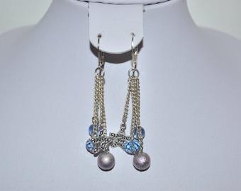 star earrings and sky blue beads