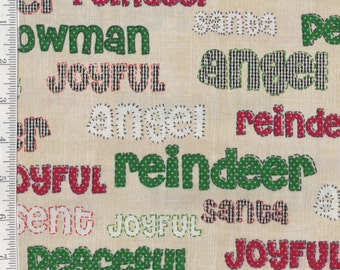 Joyful Christmas - Per Yd - By Whistler Studios for Windham Fabrics