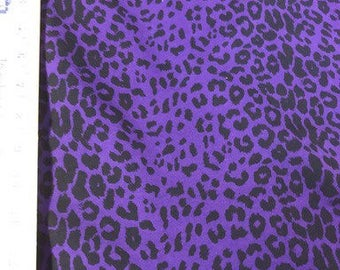 Purple Cheetah Cotton Lycra Knit FAbric