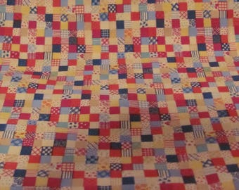 Quilt Checkered Print Fabric