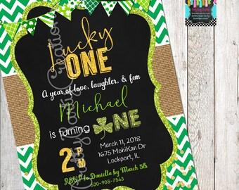 ST PATRICKS DAY chalkboard invitation - You Print