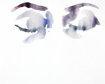 eye study no. 2 . original watercolor painting
