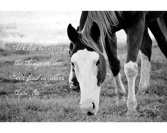 Horse Quote Print 16×20