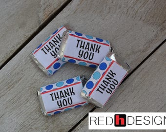 Thank You Mini Candy Bar Wrapper Digital Download