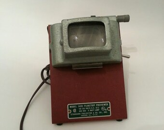 Vintage Filmstrip Viewer, Table Light, Night Light,  Industrial light, Works