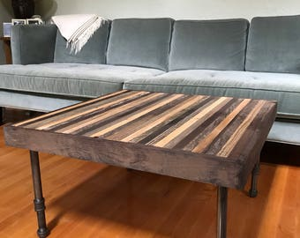"""Beautiful 30"""" square coffee table- on Sale - modern - rustic - reclaimed"""