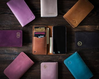 Samsung Galaxy S8 case Leather, Samsung Galaxy S7 case personalized, Samsung Galaxy S8 plus case, Leather Samsung Galaxy S8 wallet case