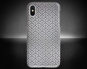 Geometric Pattern Phone Case, iPhone X Case, Geometric Phone Cover, Protective Phone Case, Samsung Note Case, Sturdy Phone Cover