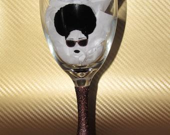 Cool Vibes wine glass