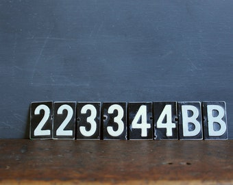 Vintage Numbers & Letters - Metal - Black and WHite - House Numbers