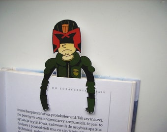 Judge Dredd printable bookmark science fiction - Sci Fi gift for him gift for her birthday helmet