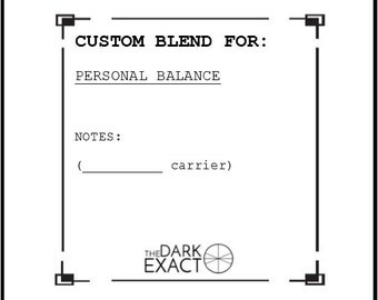 Custom Blend REORDER