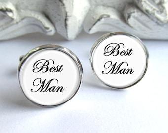 Best Man Cufflinks, Wedding Cufflinks, Gift For Best Man