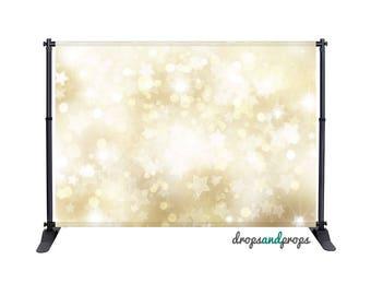 Gold Star Bokeh - Photography Backdrop