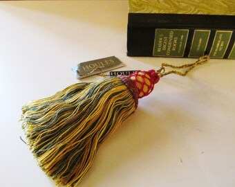 Houlès, Paris Vintage French Key Tassel by Houles, Paris, Yellow, Red and Green, St. Germain Key Tassel, Passementerie, The Gilded Tassel