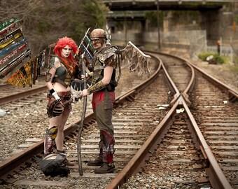 Cosplay Print - Atomic Hawkman and Hawkgirl