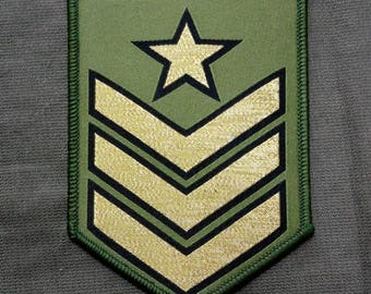 Military Style Sergeant Woven Patch Sew On
