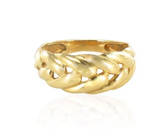 Ring yellow gold with gold spike
