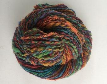 Hand Spun Yarn, Corriedale fiber, Wine Gums.