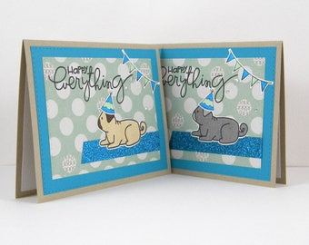 Pug Birthday Card, Pug Card, Pug Happy Everything Card