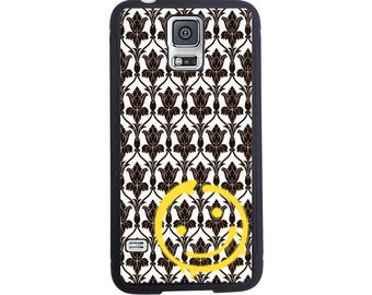 Sherlock Inspired Bored Wallpaper Case For The Samsung Galaxy S4, S5, S6, S6 Edge, S7, S7 Edge, S8 or S8 Plus.