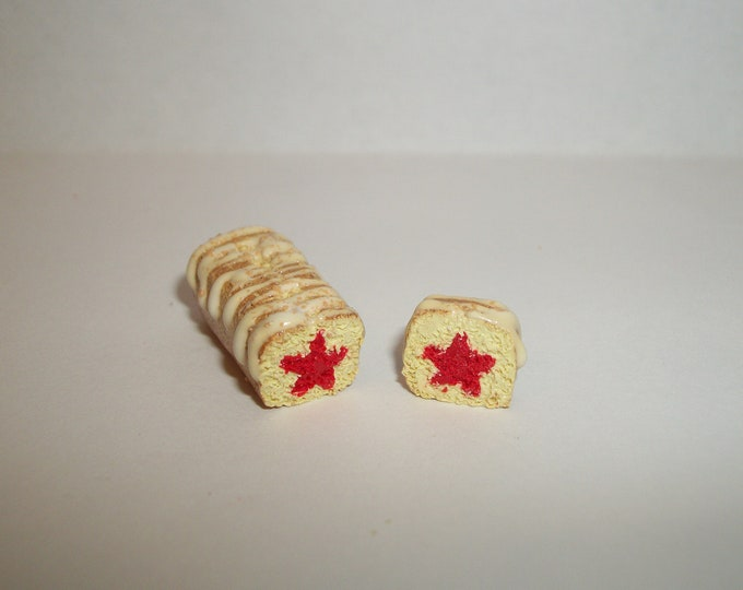 Featured listing image: 1:12 One Inch Scale Dollhouse Miniature Handcrafted July 4th Independence Day Patriotic Red Star Bread Dessert Cake Doll Food