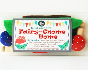 Spring Craft Build Your Own Fairy Gnome Home - Woodland - Kids Craft Kit - Gift Idea - DIY - Stocking Stuff - Christmas