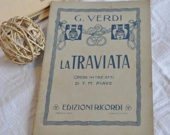 """Libretto by Giuseppe Verdi's """"La Traviata""""-1933"""