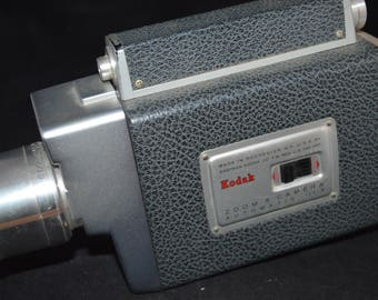 "Kodak Zoom Camera / vintage / automatic f/1 9 / 960s / 8"" / camera / vintage camera / Kodak camera / zoom camera / Kodak / movie camera"