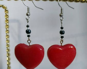 Be My Valentine earrings (Pink or Red)