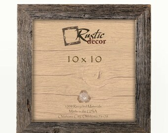 "10x10 -1.5"" wide Rustic Barn Wood Standard Wall Frame"
