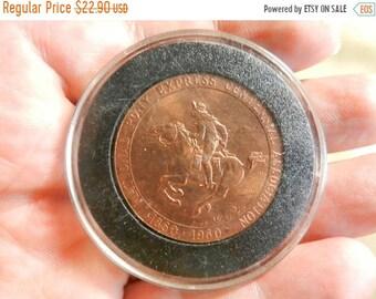 Spring Sale Vintage 1960 Poney Express Token Coin Medal