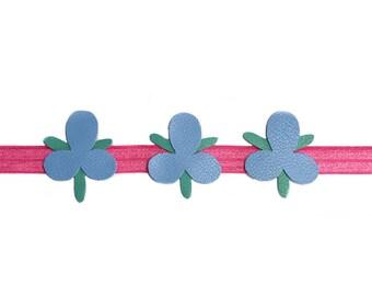 Trolls Poppy Headband, poppy headband from Trolls, pink bow headband, movie hair accessories, flower headband for babies, floral headband