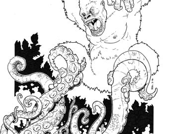 Gorilla vs Tentacles (What more needs to be said?)