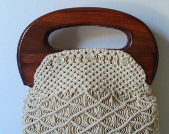 Vintage Macrame Bermuda Bag
