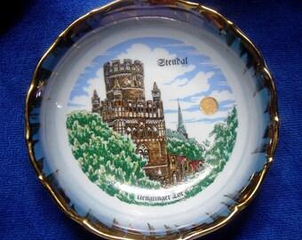 West German Stendal Souvenir Bowl Uenglinger Tor Porcelain