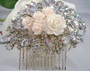Rhinestone Hair Comb Wedding Hair Decorations Jeweled Hair Piece