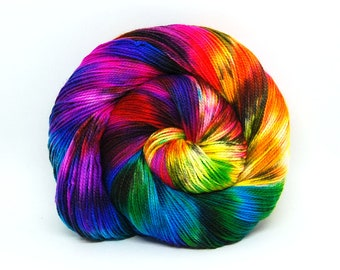 "Acoustic Sock Yarn - ""Aint it Fun!"" - Handpainted Superwash Merino - 400 Yards"