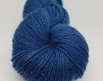 Skein of Superwash Merino - Nylon - Stellina / Fingering / Sock hand - dyed denim color