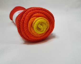 Hand dyed SW Merino / Nylon yarn, Sock weight, 4-ply, 100g, SUNSET, gradient, sock blank