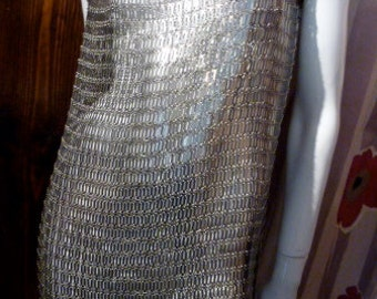 Paco Rabanne France Space Age Tunic 70s Fembot Chain Mail Barbarella