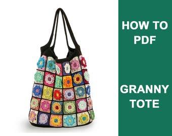 DIY crochet bag pdf, Step by step crochet pattern, Crochet bag PDF pattern, DIY crochet pattern, Knit bag download, Tote bag pattern