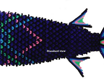 Monster-Goth Mermaid Tail Pattern