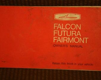 Auto manuals Vintage Falcon Futura Fairlane Owners Manual for classic car
