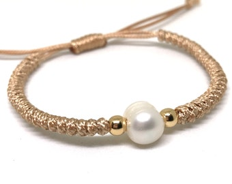 Waterproof Anklet, Pearl Anklet, Braided Anklet, Beach Anklet, Surfer Anklet, Gift for her, Freshwater pearl