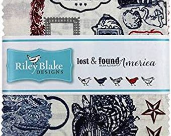 Lost & Found America 5 Inch Stacker from Riley Blake - 42 Pieces