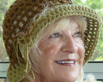 Cotton hiking hat, unique chemo hat for women, Bohemian accessory, brimmed summer hat, women's fashions, safari hat, free shipping USA