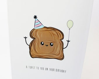 A6 Greetings Card - A Toast To You On Your Birthday