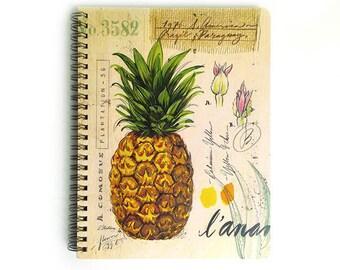 Pineapple Medium Notebook, Pineapple Journal, Pineapple Notebook, Pineapple Illustration, Pineapple Print